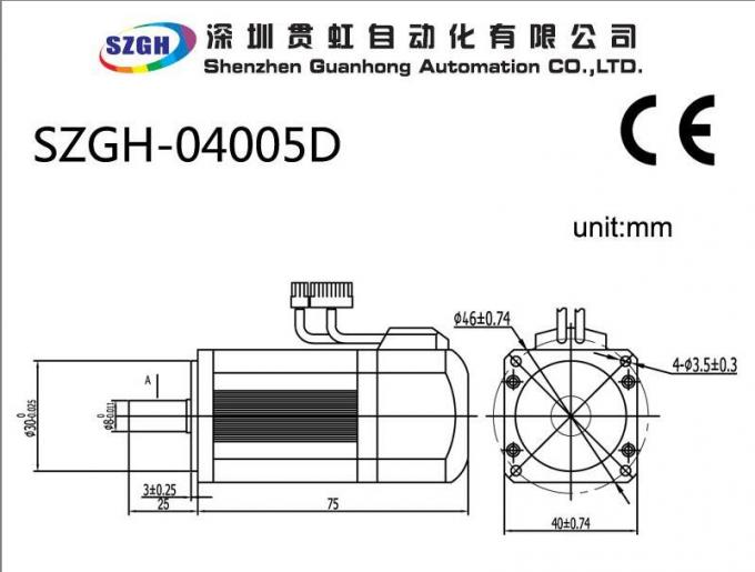 0.32NM Variable Frequency 50W AC / DC CNC Servo Motor For Automated Production Lines