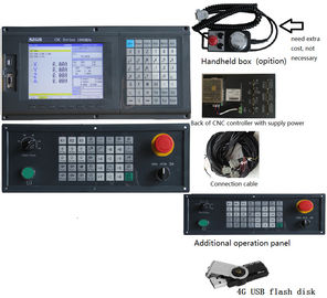 China Humane 4 Axis milling CNC Controller system with usb + dsp function , PLC ladder and ATC distributor