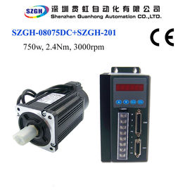 China 750W 2.4nm 3000rpm Ac Servo Motor And Driver And Amplifier And Cables For Total Solution 220v distributor